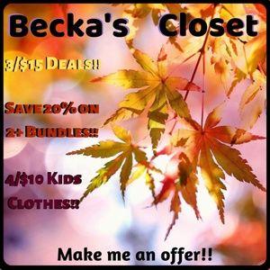 💜💜 Becka's Closet 💜💜